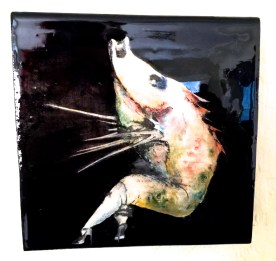 Photograph on Canvas Mixed Media, Acrylic, Ink, and Photo Transfer on Wooden Panels Finished with a Resin Coating 7 x 7 x 1.5 inches Retail: $500 Starting Bid: $350 - Click to Purchase Tickets
