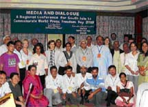 South Asian journalists commemorate World Press Freedom Day 2009