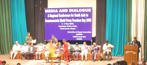 President Inaugurated the Press Freedom Conference in Nepal