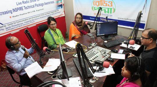 "Special Live Radio Talk Show named ""Open Sky"" has broadcast through Radio Padma 99.2 FM"