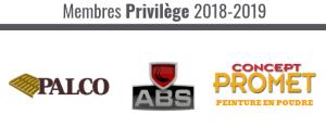 Membres privilèges 2018-2019 : Palco, ABS Remorques, Concept Promet