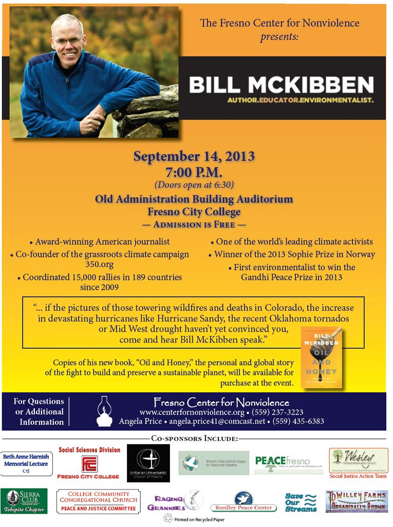 Bill McKibben--Presentation and Discussion