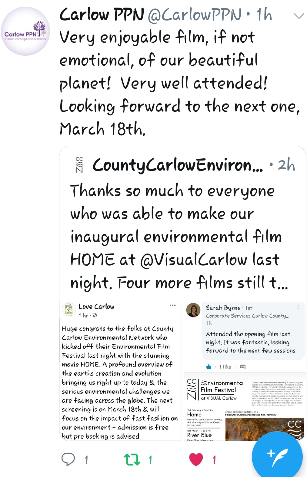 CCEN Environmental Film Festival Feedback