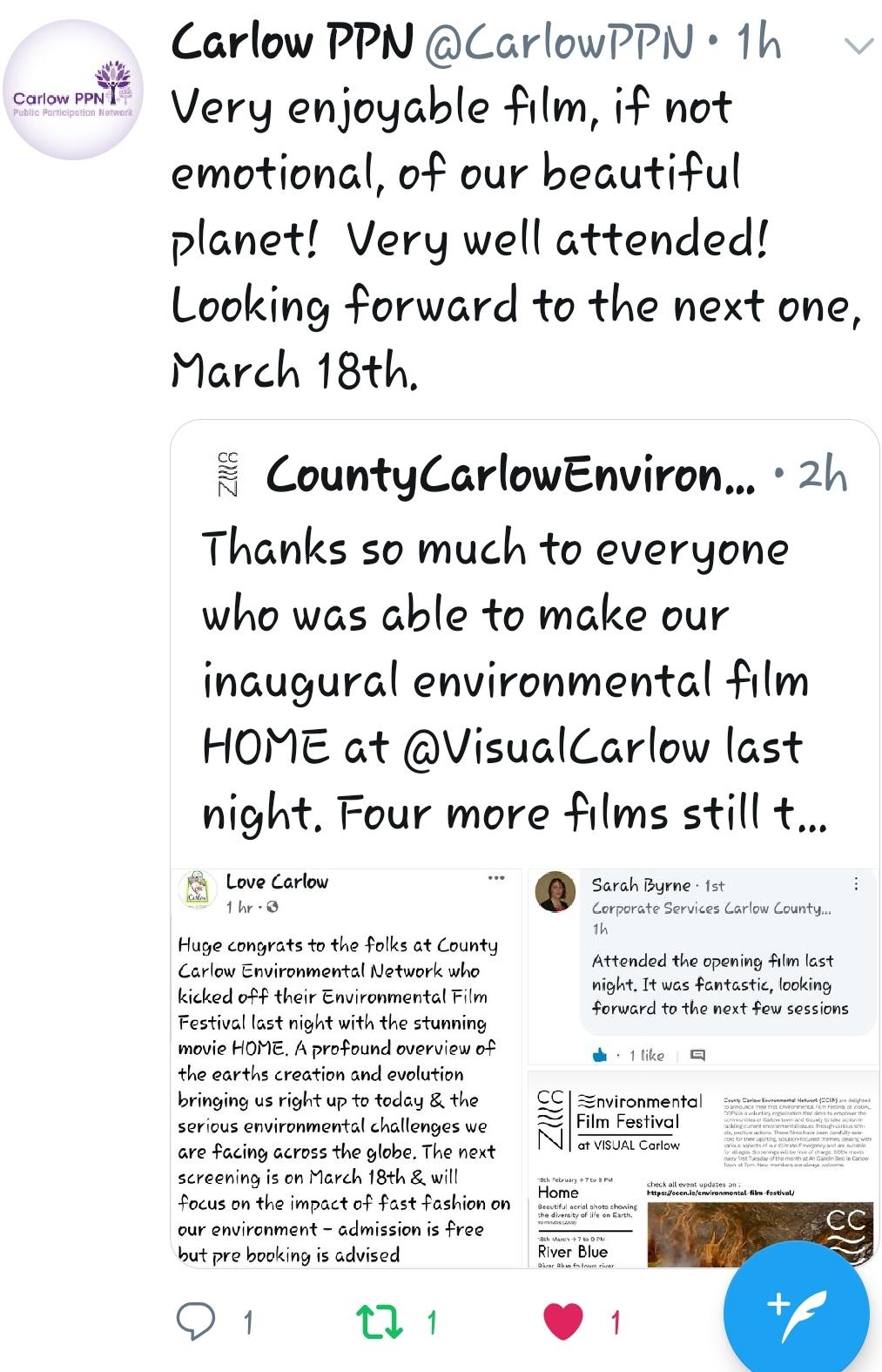 CCEN Environmental Film Festival Feedback