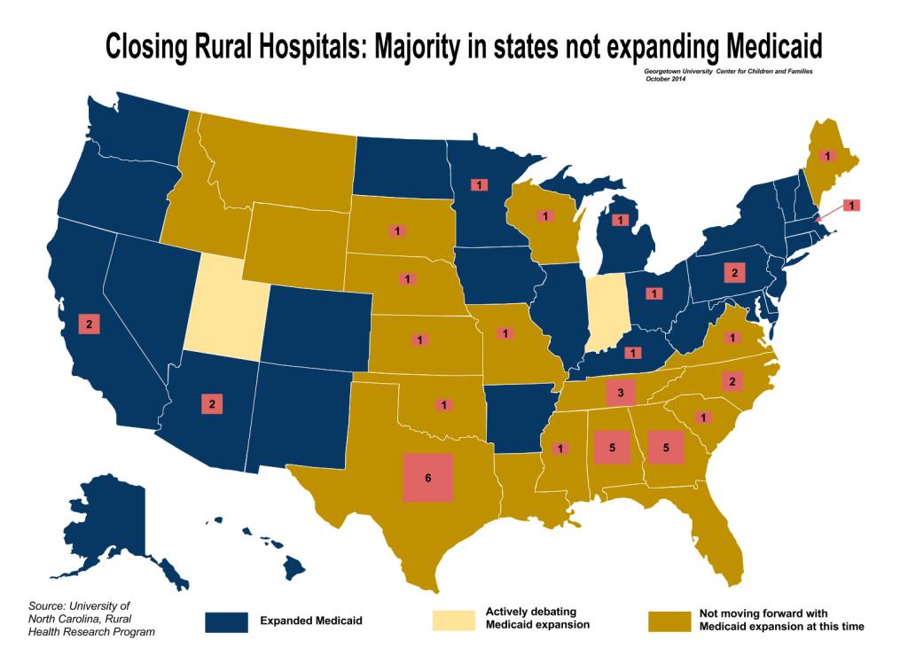 Medicaid Hospital - Expansion Map (1)