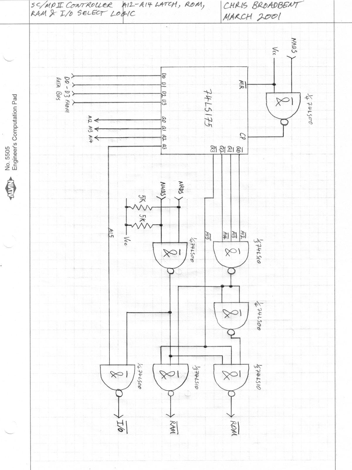 Circuit Diagrams For A Sc Mp Ii Nibl Single Board Mcu