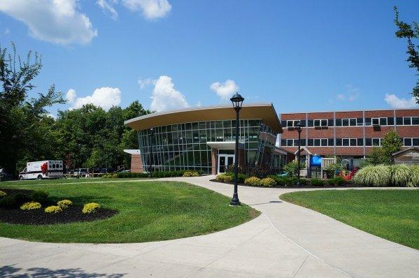college, campus, building