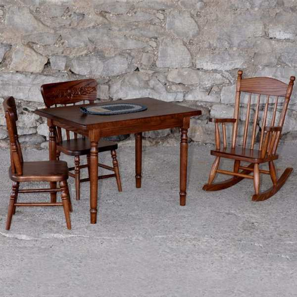 Child's Table, Chair and Rocker