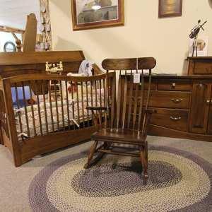 Rocking Chair, Crib & Dresser