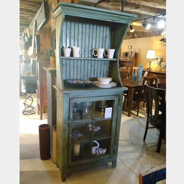 Antique Window Curveside Cabinet