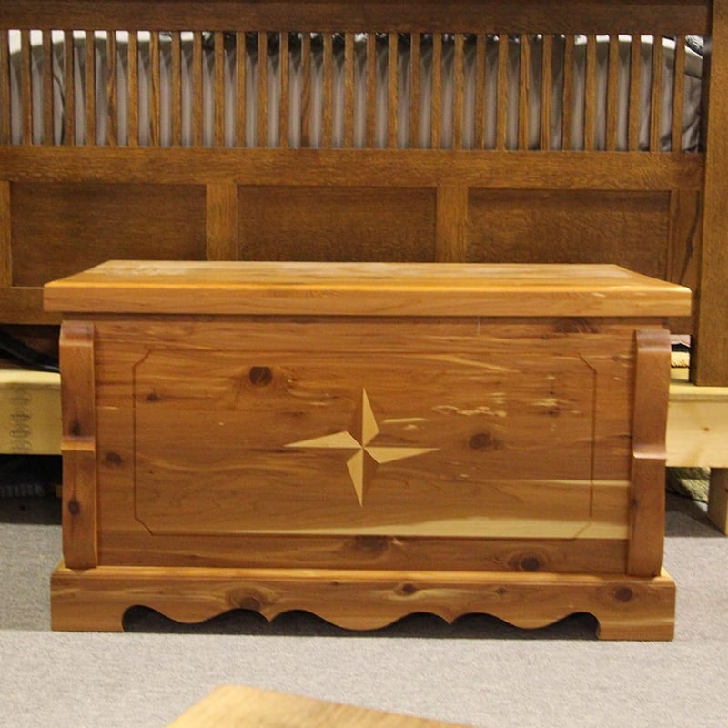Cedar Chest with Single Star