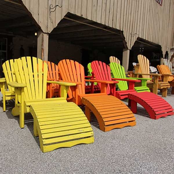 Cedar Muskoka Chairs and foot rest