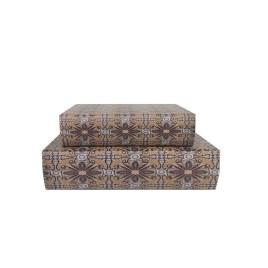 Decorative Antique Paper Book (2pcs/Set)