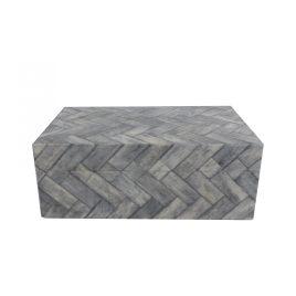 Grey Bone Retangular Box