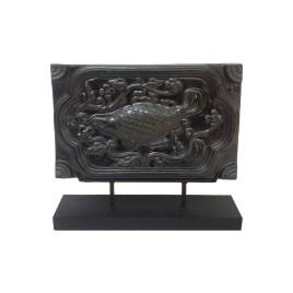 Black ceramic Fish with stand