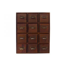 Small wooden drawer storage(12 drawers)