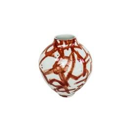 Red Brush Work Ceramic Vase (S)