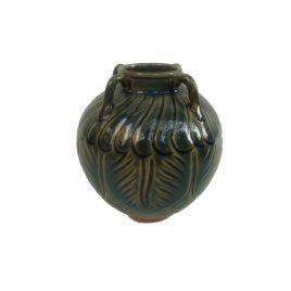 Indigo Glazed Ceramic Vase