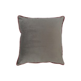 Shark Gray Velvet Throw Pillow