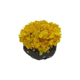 Yellow Hydrangea  With Ceramic Vase