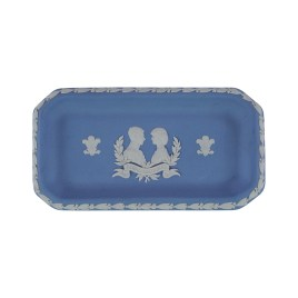 Wedgewood Blue Jasperware Oblong Tray (1981 Royal Wedding Prince of Wales & Lady Diana)