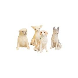 Vintage Ceramic Dog Set (Small) Set of 4