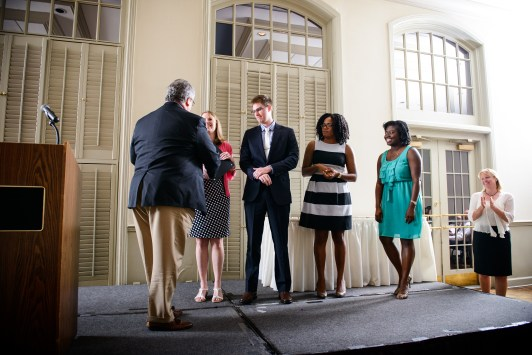 John C. Higginbotham, PhD, recognized the Larry Mayes Research Society Scholars.