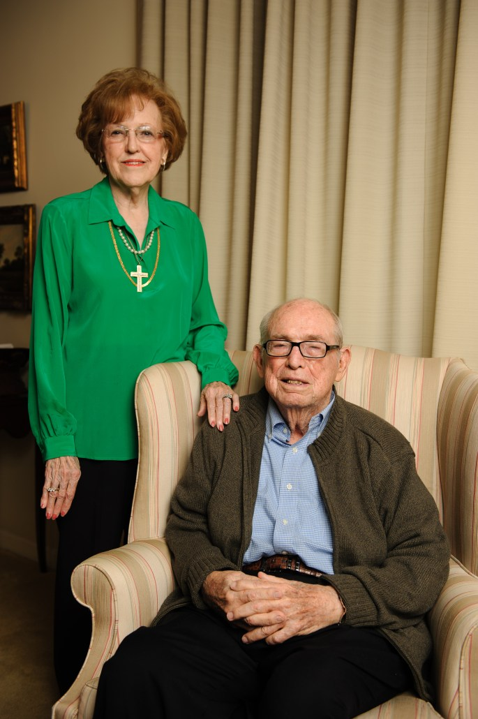 Dr. Ernest Cole Brock, Jr., with his wife, Hannah Brock
