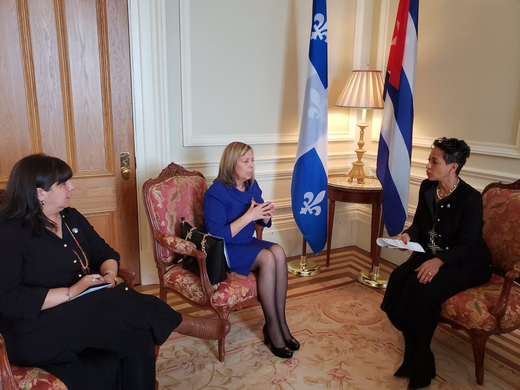 Visite officielle de l'Ambassadrice Josefina Vidal à Québec