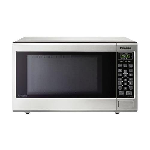 panasonic mid size genius inverter stainless 1 2 cu ft steel microwave nnst663sc