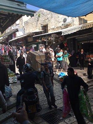 Old Jerusalem market (photo by Traci Blackmon)