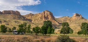 Campsite view at Buffalo Bill State Park
