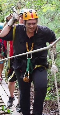 Walking a Connecting Bridge