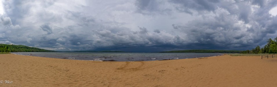 Storm approaching at Sand Point