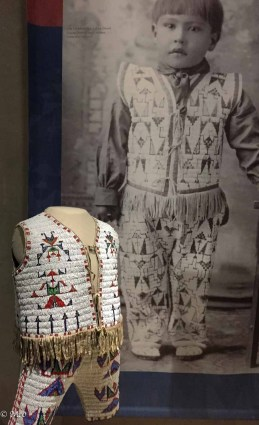 Little boy's vest and pants, original photo shown on right