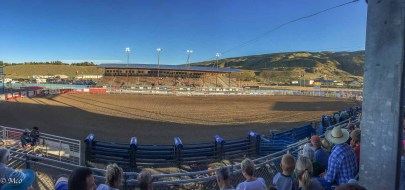 Rodeo stadium. filled to capacity on our side, shade!