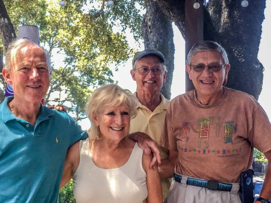 Four ex-Measurex employees: Davey, Beverly, Jerry, and Colin