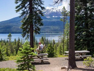 Perfect spot at Diamond Lake