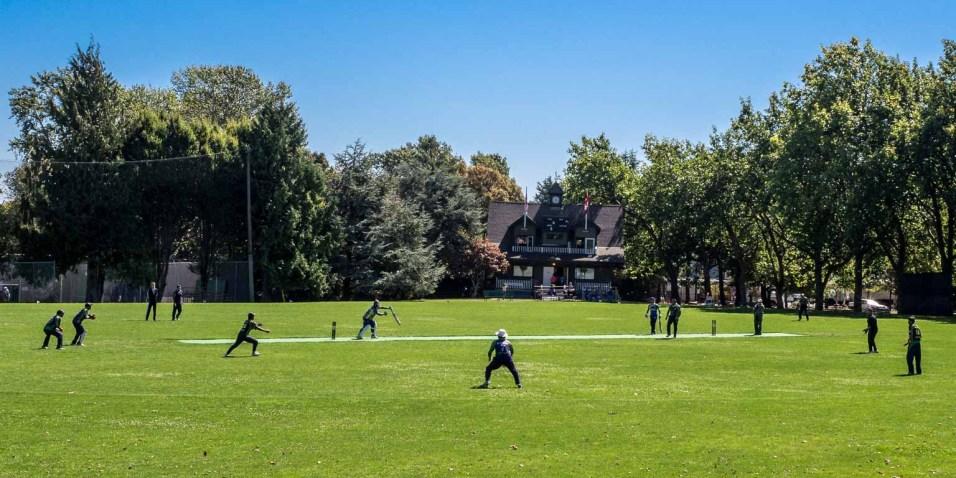 Cricket match at Beacon Park