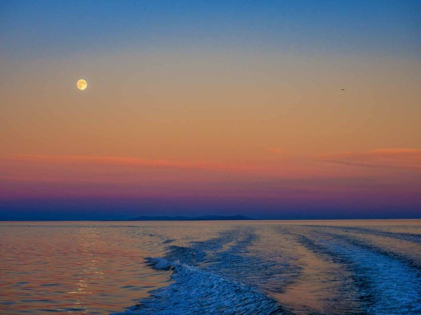 sunset - moonrise