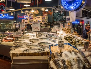 Extensive local fish selection
