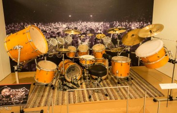 A massive drum set