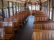 All wood-vintage streetcar