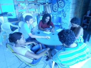 PeixeFolha organizando a produção