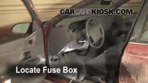 Interior Fuse Box Location: 19901995 Ford Taurus  1993