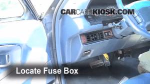 Interior Fuse Box Location: 19911996 Oldsmobile 98  1993 Oldsmobile 98 Touring 38L V6