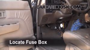 Interior Fuse Box Location: 19901995 Toyota 4Runner  1994 Toyota 4Runner SR5 30L V6