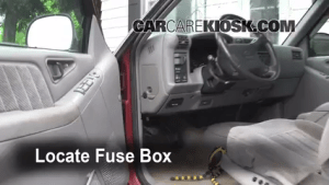 Interior Fuse Box Location: 19951997 Chevrolet Blazer  1995 Chevrolet Blazer LT 43L V6 (4 Door)