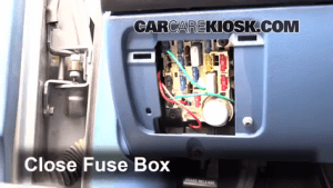 Interior Fuse Box Location: 19901997 Ford F250  1995 Ford F250 XL 75L V8 Standard Cab