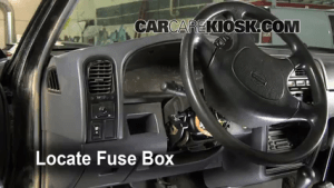 Interior Fuse Box Location: 19861997 Nissan Pickup  1995
